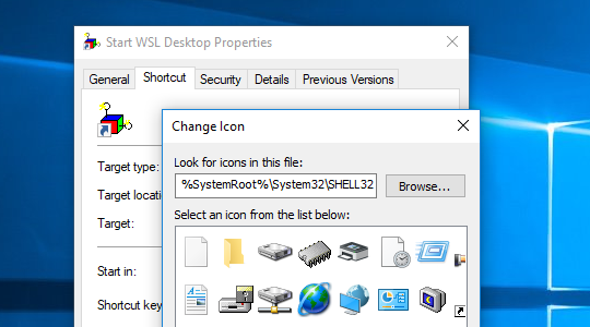 Creating a Windows Shortcut for Linux GUI Desktop (WSL