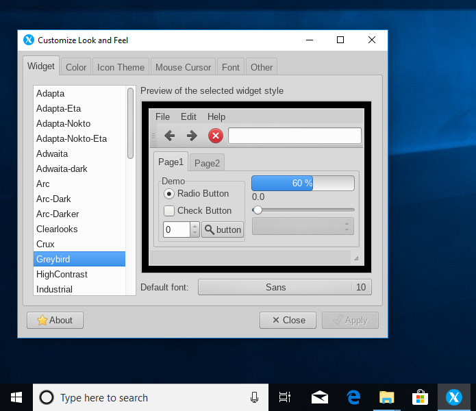 Setting the Theme for Linux GUI Apps (Windowed Apps Mode