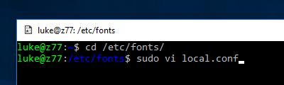 Sharing Windows fonts with WSL - Choung Networks