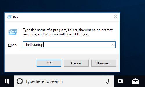 windows 10 program startup folder