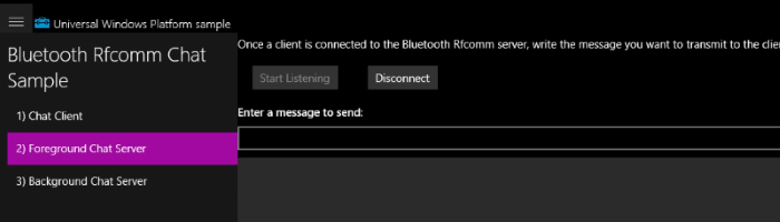 Bluetooth/RFCOMM communication example with Windows IoT - Choung