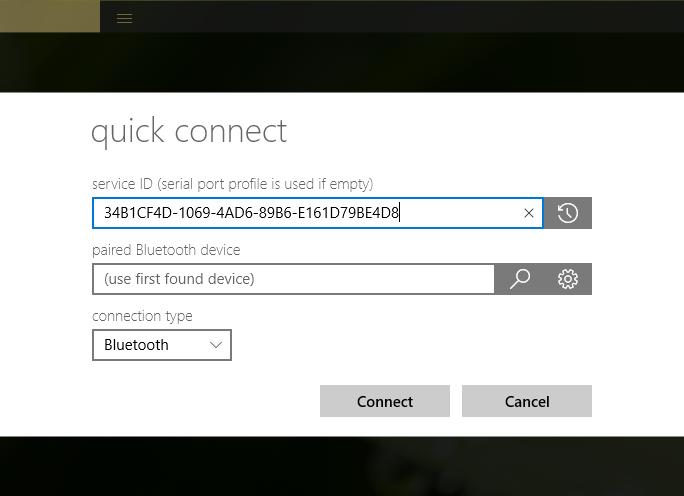 Bluetooth/RFCOMM communication example with Windows IoT